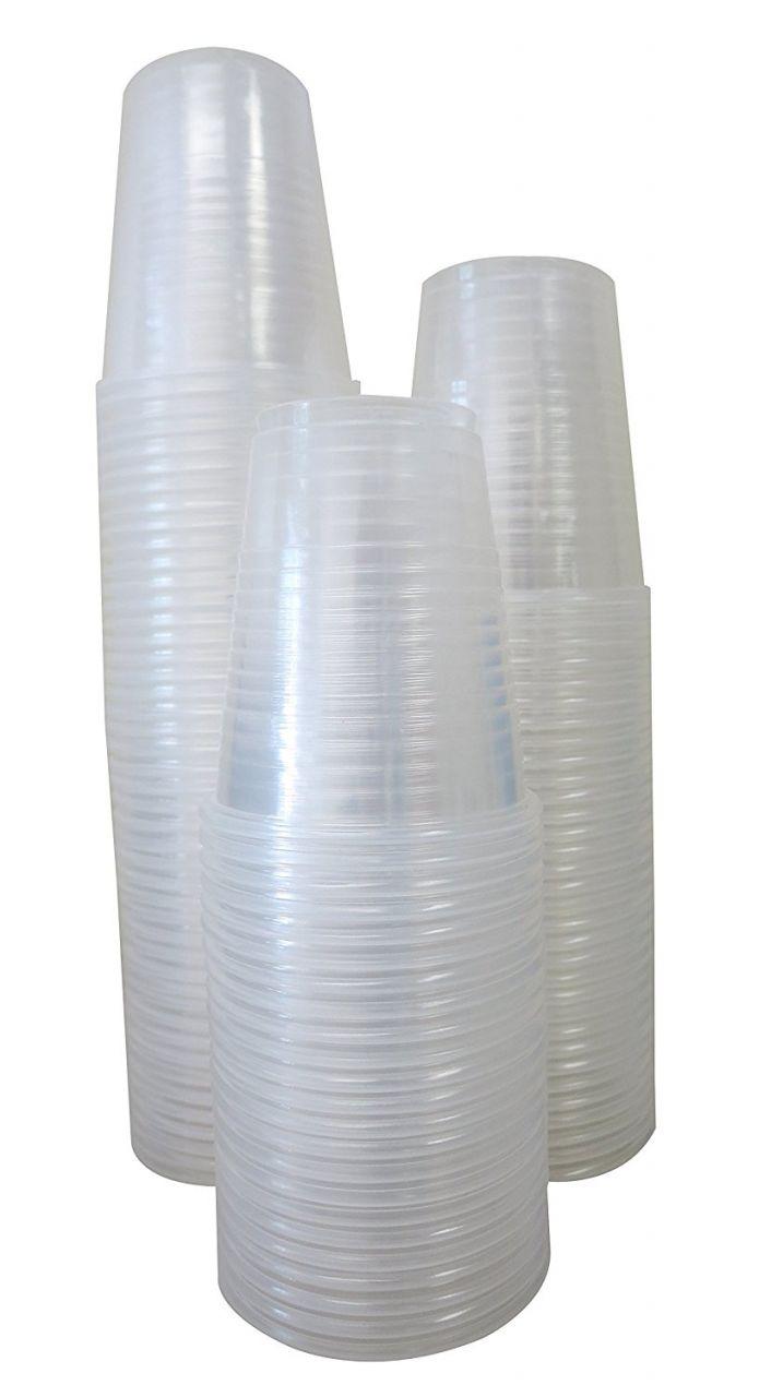Műanyag pohár 2 dl víztiszta (100 db/csomag)