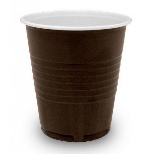 Műanyag pohár automata 1,5 dl hossz. bordázott, barna (100 db/csomag)